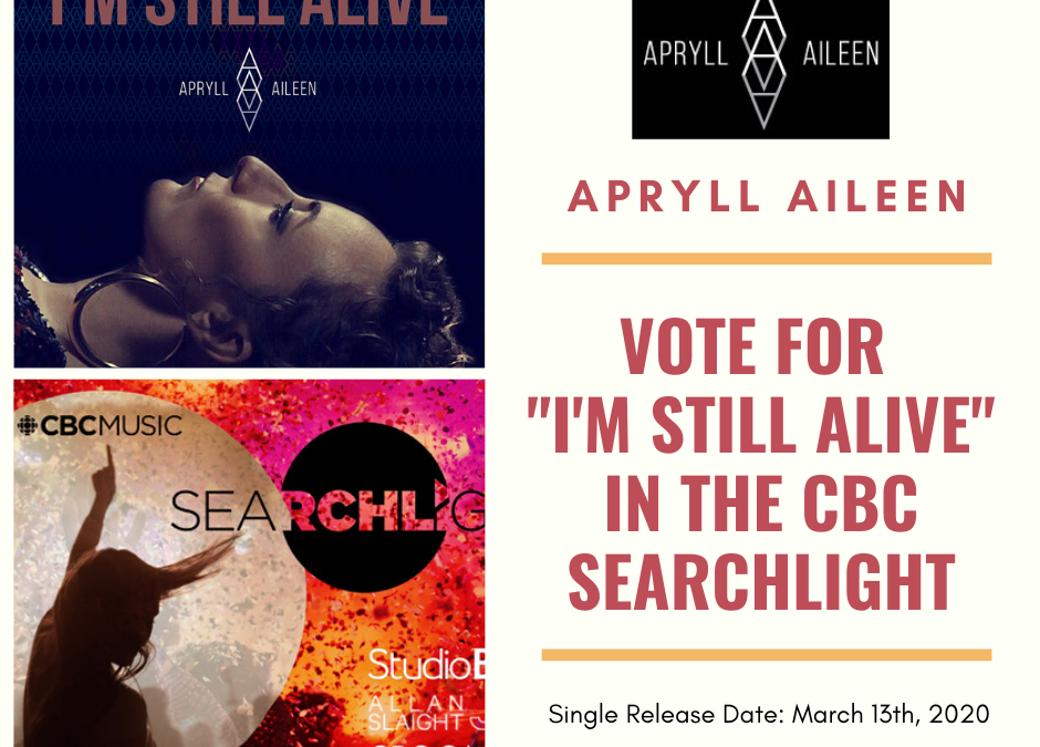 APRYLL AILEEN in the CBC Searchlight TOP 100 in Canada!